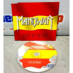 CD Single Manowar    Live In Spain  Nuclear Blast 1988 Germay Edición limitada