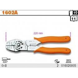 Alicates para engarzar Beta Tools 1602A para terminales aislados 220 mm 0-6 mm