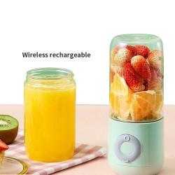 Licuadora portátil XHJ-118 Exprimidor de 6 cuchillas, recargable por USB, procesador de alimentos, taza de fruta de 500mL