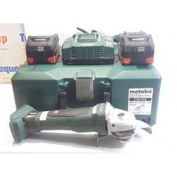 Amoladora METABO WB 18 LTX BL 125 con dos baterias y cargador