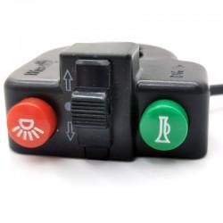 Botonera manillar de intermitencia, luces y claxon - Waterproof