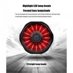 Luces traseras inteligentes para bicicleta, luz trasera con sensor automático, USB, IPX6 resistente al agua