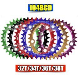 Platos para bicicleta de montaña, 104BCD, redondos/ovalados, anchos, 32T