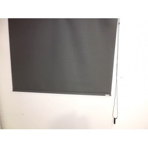 Estores enrollables Louverdrape 110x150mm color gris